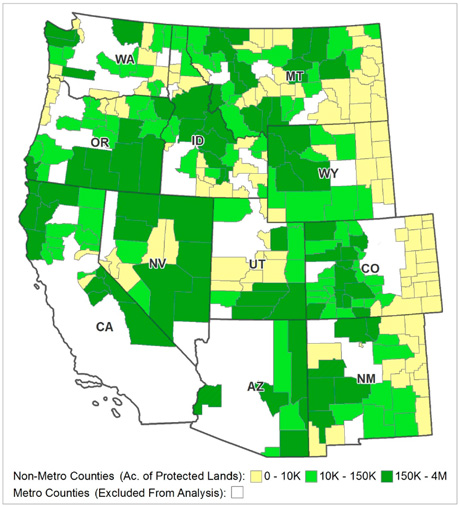 Protected Federal Lands in Non-Metro West Increase Per Capita Income ...